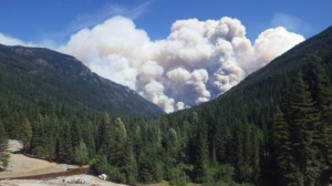 The Wolverine Creek Fire located northwest of Lucerne, WA began on Jun. 29, 2015 and has consumed an estimated 25,000 acres. The fire was caused by a lightning strike. USFS photo.