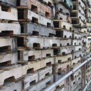 recycled pallet stacks