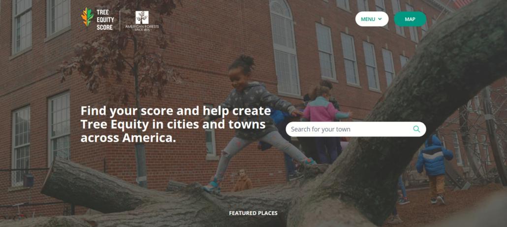 Tree Equity Score website